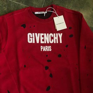 GIVENCHY MALE HOLE SWEATER 100% COTTON